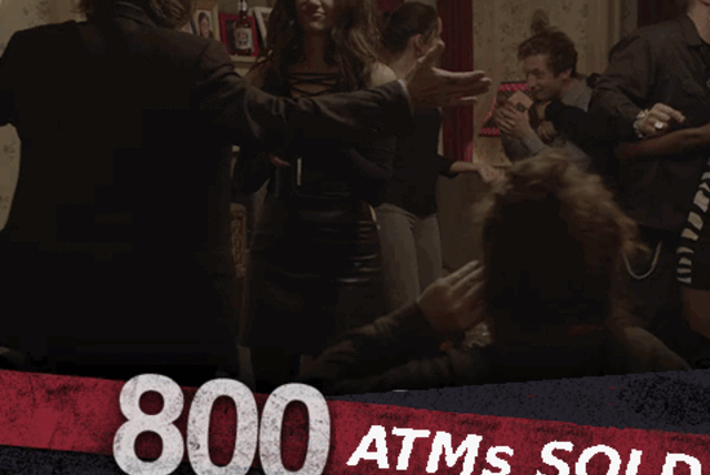 800 ATMs sold!