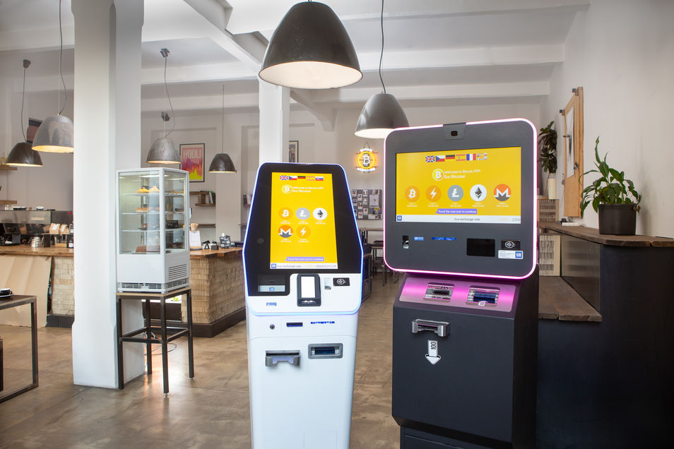 BATMFour (left) next to a BATMThree (right) Bitcoin ATM