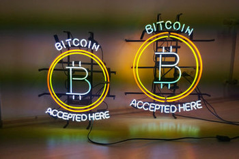 Bitcoin Neon Sign Small